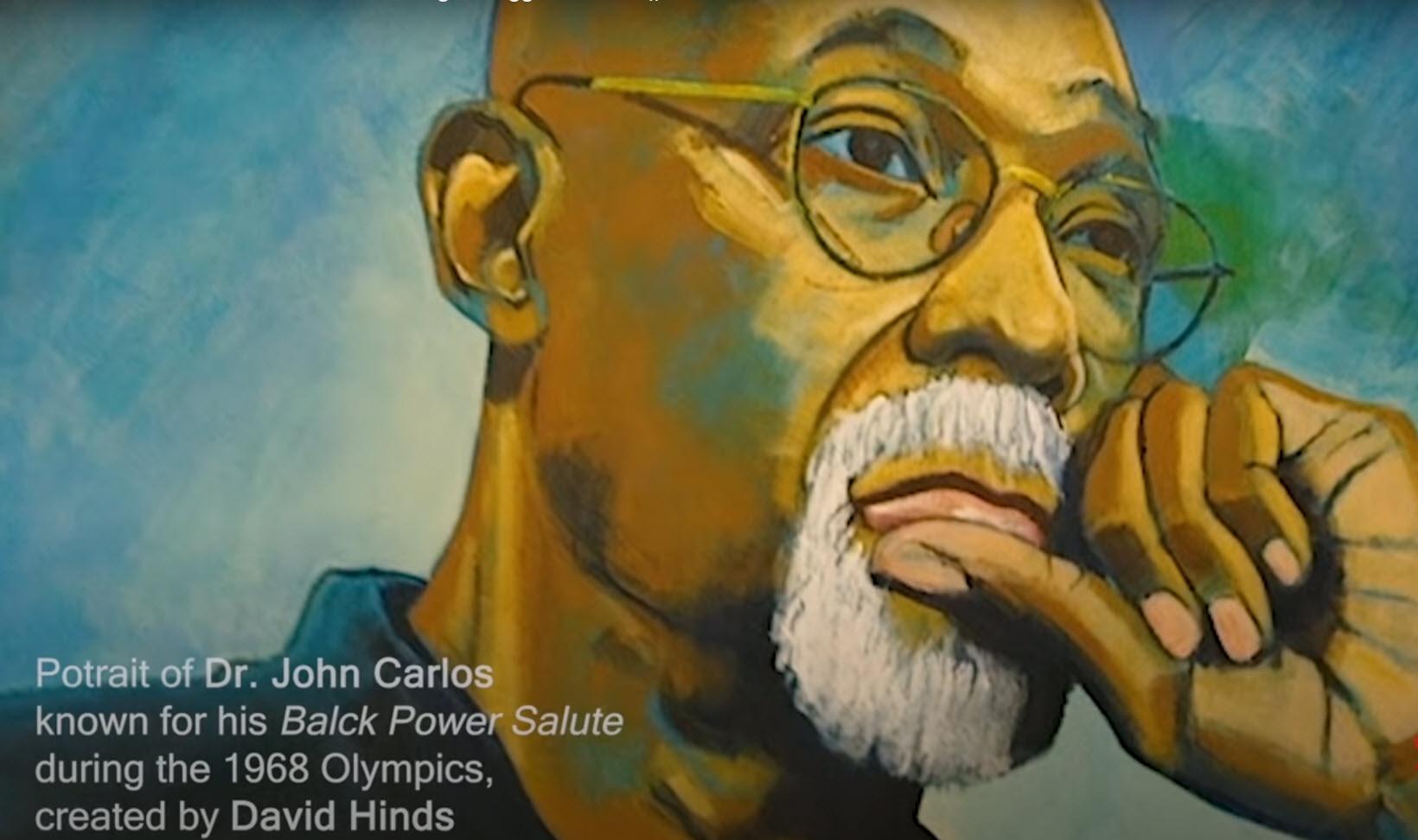 Dr. Johh Carlos portrait by David Hinds